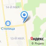 Автостоянка на карте Южно-Сахалинска