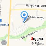 Отдел по управлению с. Березняки на карте Южно-Сахалинска
