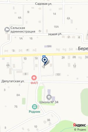 Почтовое отделение на карте Березняков