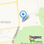 Иксайт на карте Южно-Сахалинска