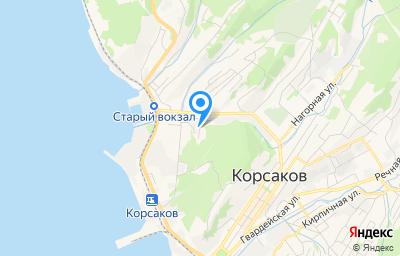 Местоположение на карте пункта техосмотра по адресу Сахалинская обл, г Корсаков, ул Ушакова, д 18