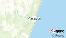 Отели города Макаров на карте