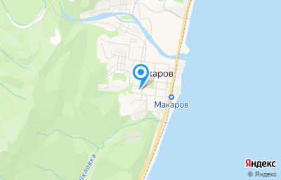 Местоположение на карте пункта техосмотра по адресу Сахалинская обл, г Макаров, ул Сахалинская, стр 21