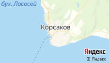 Гостиницы города Корсаков на карте
