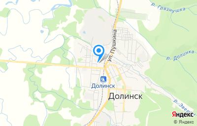 Местоположение на карте пункта техосмотра по адресу Сахалинская обл, г Долинск, ул Советская, д 17А