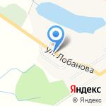 На Лобанова на карте Южно-Сахалинска