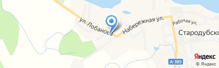 Почтовое отделение на карте Стародубского