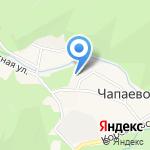 Управление администрации Чапаевского сельского округа на карте Южно-Сахалинска