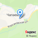 Совхоз Корсаковский на карте Южно-Сахалинска