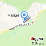 Ивушка на карте Южно-Сахалинска