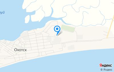 Местоположение на карте пункта техосмотра по адресу Хабаровский край, рп Охотск, ул Октябрьская, д 40
