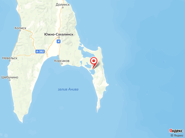 поселок Береговой на карте