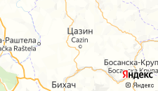 Гостиницы города Казин на карте