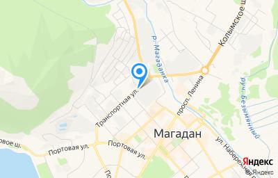 Местоположение на карте пункта техосмотра по адресу г Магадан, ул Транспортная, д 3