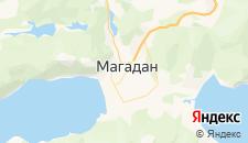 Гостиницы города Магадан на карте