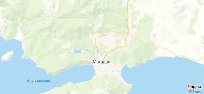 Магадан - объекты на карте