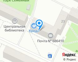 Схема местоположения почтового отделения 686410