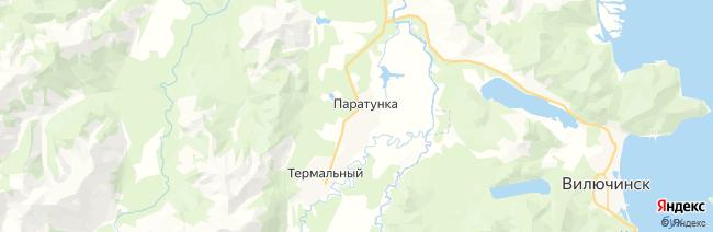 Паратунка на карте