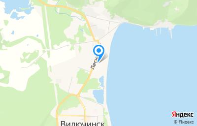 Местоположение на карте пункта техосмотра по адресу Камчатский край, г Вилючинск, ул Лесная