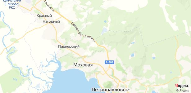 Крутобереговый на карте