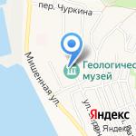 Геологический музей на карте Петропавловска-Камчатского