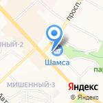 Стрекоза на карте Петропавловска-Камчатского