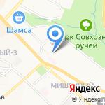 Детский сад №63 на карте Петропавловска-Камчатского