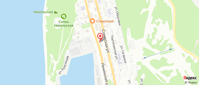 Карта расположения пункта доставки Петропавловск-Камчатский Ленинская в городе Петропавловск-Камчатский