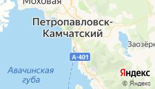 Гостиницы города Петропавловск-Камчатский на карте