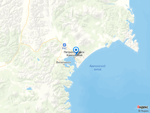 Петропавловск-Камчатский на карте