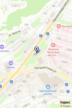Камчатский медицинский колледж на карте Петропавловска-Камчатского