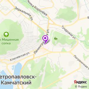 Камчатская краевая больница им. Лукашевского на карте