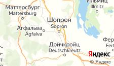 Отели города Шопрон на карте