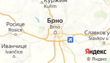 Отели города Брно на карте