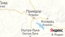 Гостиницы города Приедор на карте