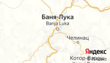 Гостиницы города Баня-Лука на карте