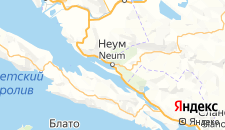 Отели города Неум на карте