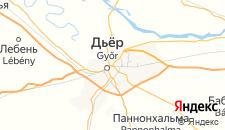 Отели города Дьёр на карте