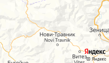 Отели города Травник на карте