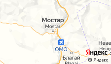 Гостиницы города Мостар на карте