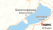 Отели города Балатонфюред на карте