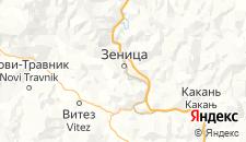 Отели города Зеница на карте