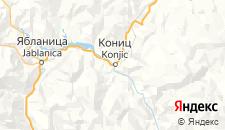 Гостиницы города Кониц на карте