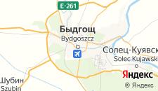 Отели города Быдгощ на карте