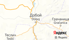 Гостиницы города Добое на карте