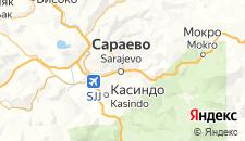 Гостиницы города Сараево на карте