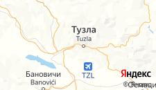 Отели города Тузла на карте
