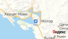 Отели города Тиват на карте
