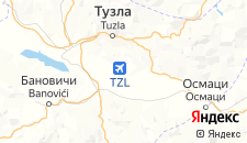 Гостиницы города Дубрав-Горнье на карте