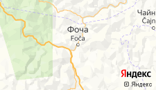 Отели города Фоча на карте